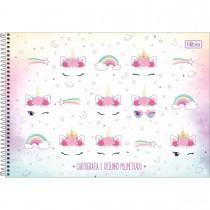 Imagem - Caderno de Cartografia e Desenho Milimetrado Espiral Capa Dura Blink 80 Folhas (Pacote com 4 unidades) - Sortido...