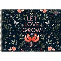 Imagem - Caderno de Cartografia e Desenho Milimetrado Espiral Capa Dura Capricho 80 Folhas - Let Love Grow - Sortido...