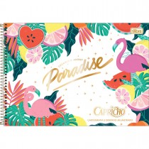 Imagem - Caderno de Cartografia e Desenho Milimetrado Espiral Capa Dura Capricho 80 Folhas - Paradise - Sortido...
