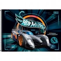 Imagem - Caderno de Cartografia e Desenho Milimetrado Espiral Capa Dura Hot Wheels 80 Folhas (Pacote com 4 unidades) - Sortido...