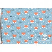 Imagem - Caderno de Cartografia e Desenho Milimetrado Espiral Capa Dura Masc./Fem. Pepper 80 Folhas (Pacote com 4 unidades) - Sortido...