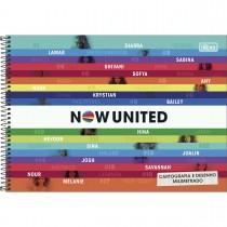 Imagem - Caderno de Cartografia e Desenho Milimetrado Espiral Capa Dura Now United 80 Folhas (Pacote com 4 unidades) - Sortido...