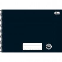 Imagem - Caderno de Cartografia e Desenho Milimetrado Espiral Capa Dura Pepper Preto 80 Folhas