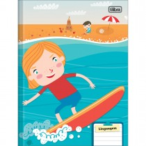 Imagem - Caderno de Linguagem Brochura Capa Dura Sapeca 40 Folhas (Pacote com 8 unidades) - Sortido