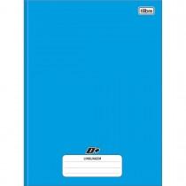 Imagem - Caderno de Linguagem Brochura Universitário Capa Dura D+ Azul 96 Folhas