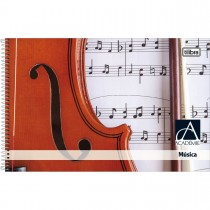 Imagem - Caderno de Música Espiral Capa Dura Pequeno Académie 96 Folhas - Sortido