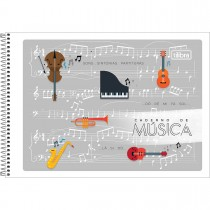 Imagem - Caderno de Música Espiral Capa Flexível P Tilibra 48 Folhas (Pacote com 20 unidades) - Sortido