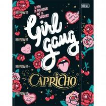 Imagem - Caderno Argolado Cartonado com Elástico Capricho 80 Folhas