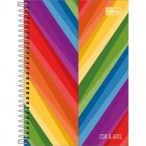 Imagem - Caderno Espiral 1/4 Capa Dura Cor e Arte 96 Folhas - Sortido (Pacote com 4 unidades)
