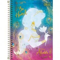 Imagem - Caderno Espiral Capa Dura 1/4 Aladdin 80 Folhas (Pacote com 4 unidades) - Sortido