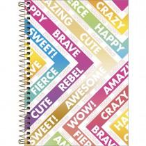 Imagem - Caderno Espiral Capa Dura 1/4 Be Nice 80 Folhas (Pacote com 4 unidades) - Sortido