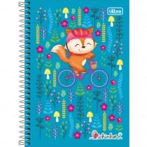 Imagem - Caderno Espiral Capa Dura 1/4 Bichinhos 80 Folhas - Sortido (Pacote com 4 unidades)