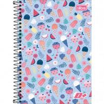 Imagem - Caderno Espiral Capa Dura 1/4 D+ 200 Folhas (Pacote com 4 unidades) - Sortido