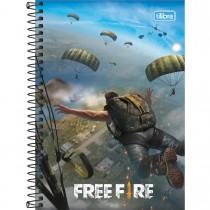 Imagem - Caderno Espiral Capa Dura 1/4 Free Fire 80 Folhas (Pacote com 4 unidades) - Sortido