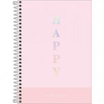 Imagem - Caderno Espiral Capa Dura 1/4 Happy 80 Folhas (Pacote com 4 unidades) - Sortido