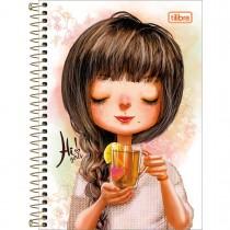 Imagem - Caderno Espiral Capa Dura 1/4 Hi! Girls 80 Folhas - Sortido (Pacote com 4 unidades)