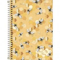 Imagem - Caderno Espiral Capa Dura 1/4 Honey Bee 80 Folhas (Pacote com 4 unidades) - Sortido