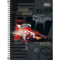 Imagem - Caderno Espiral Capa Dura 1/4 Hot Wheels 80 Folhas (Pacote com 4 unidades) - Sortido