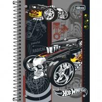Imagem - Caderno Espiral Capa Dura 1/4 Hot Wheels 96 Folhas (Pacote com 5 unidades) - Sortido