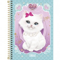 Imagem - Caderno Espiral Capa Dura 1/4 Jolie Pet 96 Folhas (Pacote com 5 unidades) - Sortido