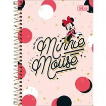 Caderno Espiral Capa Dura 1/4 Minnie 80 Folhas (Pacote com 4 unidades) - Sortido
