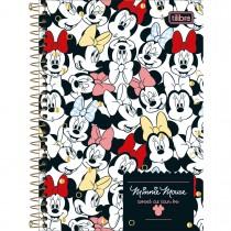 Imagem - Caderno Espiral Capa Dura 1/4 Minnie 80 Folhas (Pacote com 4 unidades) - Sortido