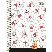 Imagem - Caderno Espiral Capa Dura 1/4 Pooh 80 Folhas (Pacote com 4 unidades) - Sortido