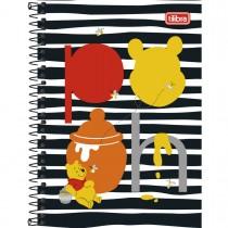 Imagem - Caderno Espiral Capa Dura 1/4 Pooh 96 Folhas (Pacote com 5 unidades) - Sortido