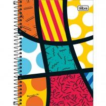 Imagem - Caderno Espiral Capa Dura 1/4 Romero Brito 80 Folhas - Sortido (Pacote com 4 unidades)