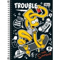 Imagem - Caderno Espiral Capa Dura 1/4 Simpsons 80 Folhas - Sortido (Pacote com 4 unidades)