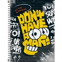 Imagem - Caderno Espiral Capa Dura 1/4 Simpsons 80 Folhas (Pacote com 4 unidades) - Sortido