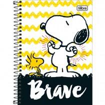 Imagem - Caderno Espiral Capa Dura 1/4 Snoopy 80 Folhas - Sortido (Pacote com 4 unidades)