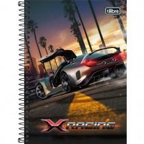 Imagem - Caderno Espiral Capa Dura 1/4 X-Racing 80 Folhas (Pacote com 4 unidades) - Sortido