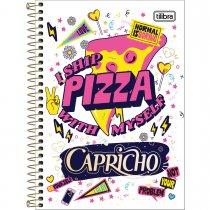 Imagem - Caderno Espiral Capa Dura 1/4 Capricho 80F - Sortido (Pacote com 4 unidades)