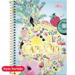 Imagem - Caderno Espiral Capa Dura 1/4 Capricho 96 Folhas - Sortido (Pacote com 5 unidades)