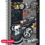 Imagem - Caderno Espiral Capa Dura 1/4 Hot Wheels 96 Folhas - Sortido (Pacote com 5 unidades)