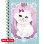 Imagem - Caderno Espiral Capa Dura 1/4 Jolie Pet 96 Folhas - Sortido (Pacote com 5 unida...