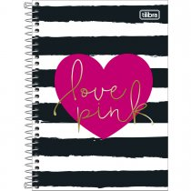 Imagem - Caderno Espiral Capa Dura 1/4 Love Pink 80 Folhas - Sortido (Pacote com 4 unidades)