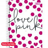 Imagem - Caderno Espiral Capa Dura 1/4 Love Pink 96 Folhas - Sortido