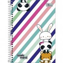 Imagem - Caderno Espiral Capa Dura 1/4 Lovely Friend 80 Folhas - Sortido (Pacote com 4 unidades)