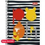 Imagem - Caderno Espiral Capa Dura 1/4 Pooh 96 Folhas - Sortido (Pacote com 5 unidades)