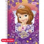 Imagem - Caderno Espiral Capa Dura 1/4 Princesinha Sofia - 96 Folhas - Sortido (Pacote com 5 unidades)
