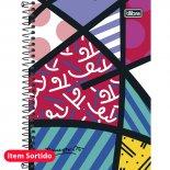 Imagem - Caderno Espiral Capa Dura 1/4 Romero Britto 96 Folhas - Sortido (Pacote com 5 unidades)