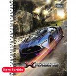 Imagem - Caderno Espiral Capa Dura 1/4 X-Racing 96 Folhas - Sortido (Pacote com 4 unidades)