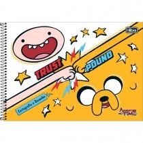 Imagem - Caderno Espiral Capa Dura Cartografia e Desenho Adventure Time 96 Folhas - Sort...