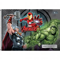 Imagem - Caderno Espiral Capa Dura Cartografia e Desenho Avengers 96 Folhas - Sortido (Pacote com 4 unidades)