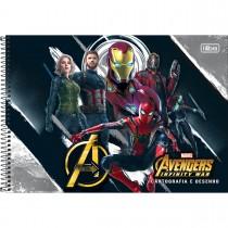 Imagem - Caderno Espiral Capa Dura Cartografia e Desenho Avengers Infinity War 80 Folhas - Sortido (Pacote com 4 unidades)...