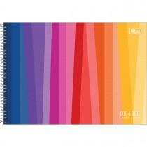 Imagem - Caderno Espiral Capa Dura Cartografia e Desenho Cor e Arte 96 Folhas - Sortido (Pacote com 4 unidades)...
