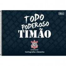 Imagem - Caderno Espiral Capa Dura Cartografia e Desenho Corinthians 80 Folhas - Sortido (Pacote com 4 unidades)...
