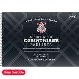 Imagem - Caderno Espiral Capa Dura Cartografia e Desenho Corinthians - 96 Folhas - Sortido (Pacote com 4 u...
